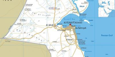 Kuvajt Kartica Kartica Kuvajt Zapadna Azija Azija